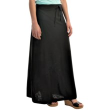 Soft Flowing Maxi Skirt (For Women) in Black - 2nds