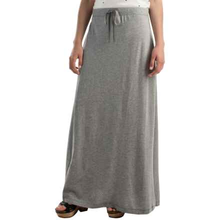 Soft Flowing Maxi Skirt (For Women) in Grey Heather - 2nds