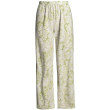 Soft Lounge Bottoms (For Women) in Green Snowflake - 2nds