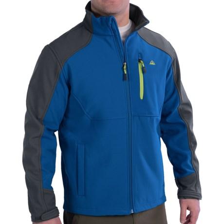 Soft Shell Jacket - Single Chest Pocket (For Men) in White