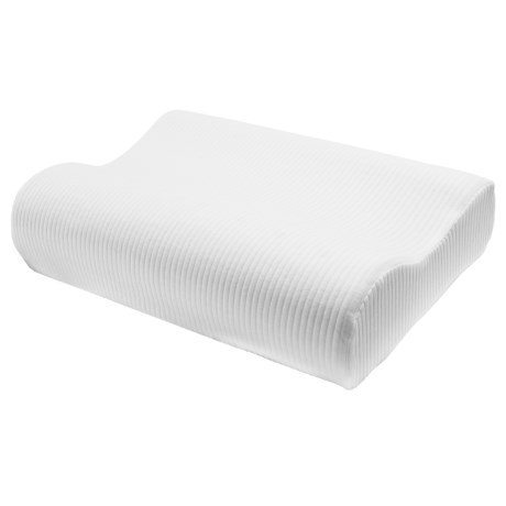 Soft-Tex Classic Contour White Pillow - Standard, Memory Foam in White