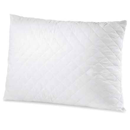 Soft-Tex MemoryLOFT® Quilted Pillow - Standard in White - Overstock