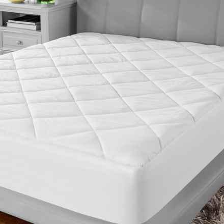 Soft-Tex MicroShield® Mattress Pad - King in White - Overstock