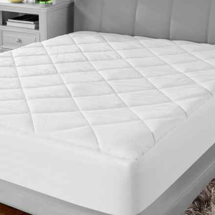 Soft-Tex MicroShield® Mattress Pad - Twin in White - Overstock