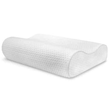 Soft-Tex SensorPEDIC® Memory-Foam Contour Neck Pillow in White - Overstock