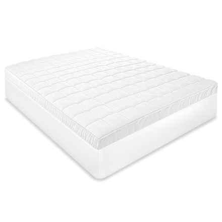 Softex Repreve® Luxury Mattress Pad Cover - Twin, 300 TC in White - Closeouts