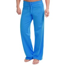 Softies by Paddi Murphy French Terry Drawstring Pants - Modal-Cotton (For Women) in Ocean Blue - Closeouts
