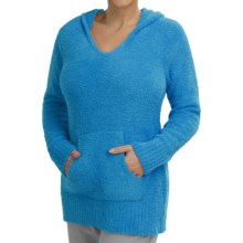 Softies by Paddi Murphy Marshmallow Hoodie - Chenille (For Women) in Ocean Blue - Closeouts