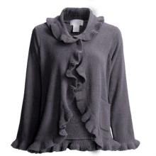 Softies by Paddi Murphy Ruffle Bed Jacket - Chenille (For Women) in Charcoal - Closeouts