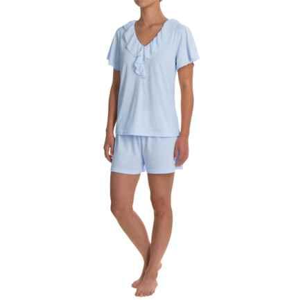 Softies Paddi Murphy Ellie Shorty Pajamas - Short Sleeve (For Women) in Light Blue - Closeouts