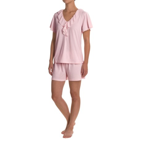 Softies Paddi Murphy  Ellie Shorty Pajamas - Short Sleeve (For Women) in Light Pink
