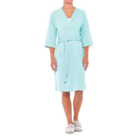 Softies Paddi Murphy Kimono Robe  - 3/4 Sleeve (For Women) in Aqua - Closeouts