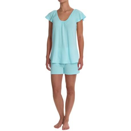 Softies Paddi Murphy Natalie Shorty Pajamas - Short Sleeve (For Women) in Aqua