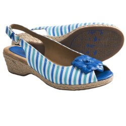 Softspots Achelle Sling-Back Sandals (For Women) in Blue Stripes