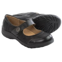 Softspots Acinda Mary Jane Shoes - Leather (For Women) in Black/Black - Closeouts