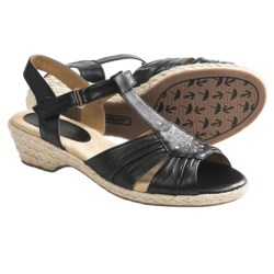 Softspots Adalynn Sandals - Leather (For Women) in Black
