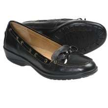 Softspots Ally Shoes - Leather, Slip-Ons (For Women) in Black - Closeouts