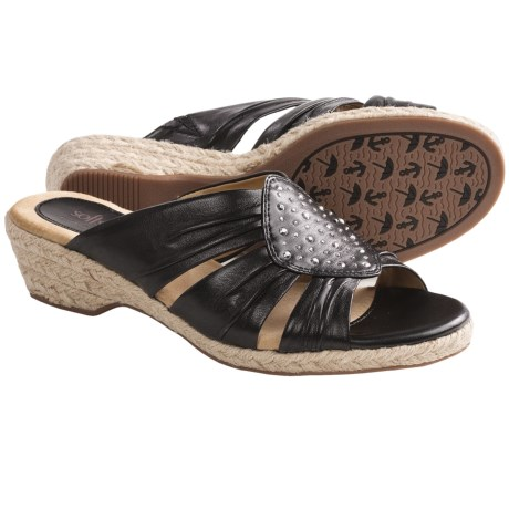 Softspots Audrina Sandals - Leather (For Women) in Black