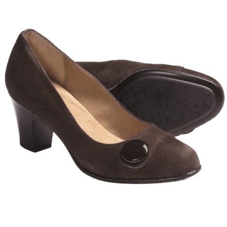 Softspots Basha Pumps - Leather (For Women) in Chocolate Suede