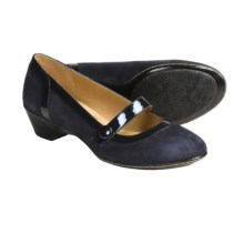 Softspots Caprice Heels - Mary Janes (For Women) in Winter Blue Suede - Closeouts