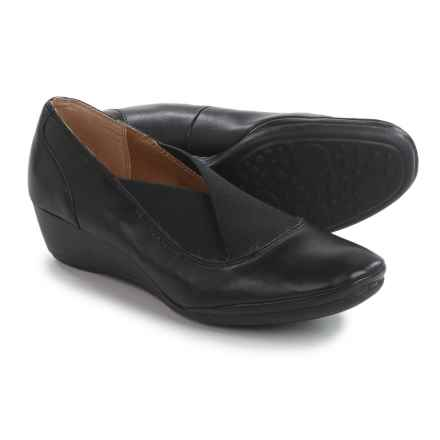 Softspots Caren Wedge Shoes - Leather (For Women) in Black - Closeouts
