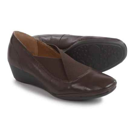 Softspots Caren Wedge Shoes - Leather (For Women) in Mahogany Black - Closeouts