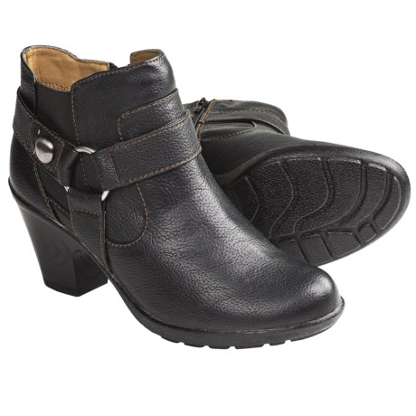 Softspots Carmina Harness Ankle Boots (For Women) in Black