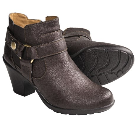 Softspots Carmina Harness Ankle Boots (For Women) in Dark Brown