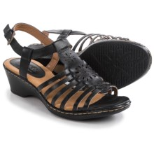 Softspots Havana Sandals - Leather (For Women) in Black - Closeouts