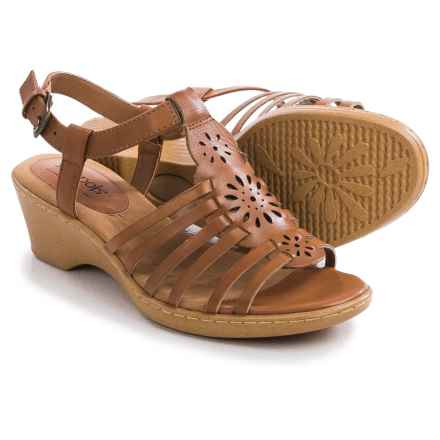 Softspots Havana Sandals - Leather (For Women) in Luggage - Closeouts
