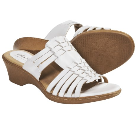 Softspots Helix Sandals (For Women) in White