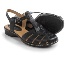 Softspots Holly Sandals - Leather (For Women) in Black - Closeouts
