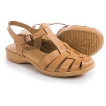 Softspots Holly Sandals - Leather (For Women) in Light Tan - Closeouts