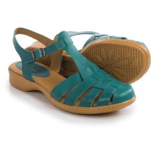 Softspots Holly Sandals - Leather (For Women) in Turquoise - Closeouts