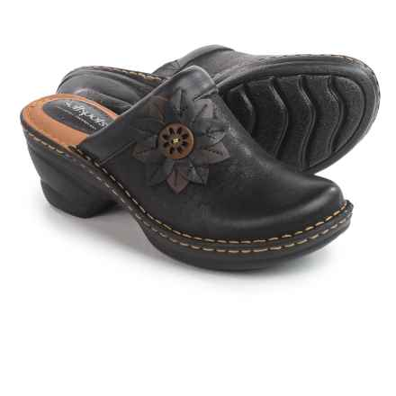 Softspots Lara Clogs - Leather (For Women) in Black - Closeouts