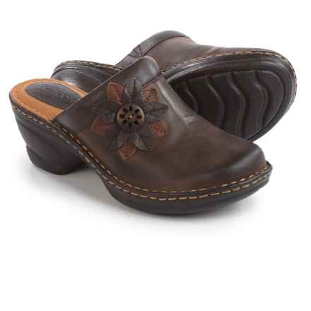 Softspots Lara Clogs - Leather (For Women) in Coffee - Closeouts