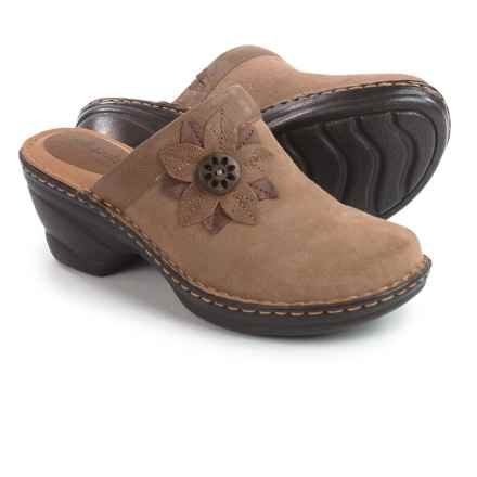 Softspots Lara Clogs - Leather (For Women) in Congo Suede - Closeouts