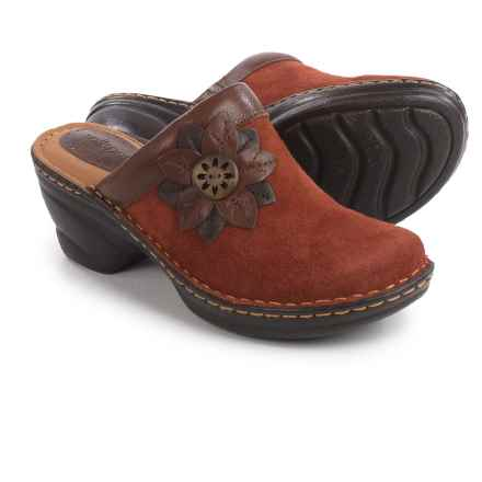 Softspots Lara Clogs - Leather (For Women) in Rust/Sturdy Brown - Closeouts