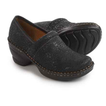 Softspots Larissa Clogs (For Women) in Black Suede - Closeouts