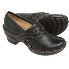 Softspots Lennox Clogs - Leather, Closed Back (For Women) in Black/Black - Closeouts