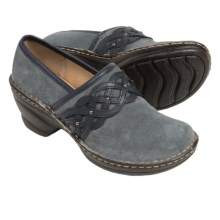 Softspots Lennox Clogs - Leather, Closed Back (For Women) in Denim/Arcadia Navy - Closeouts