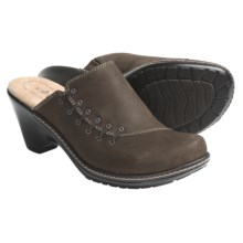 Softspots Leonora Leather Clogs (For Women) in Taupe Grey Suede - Closeouts