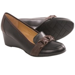 Softspots Mariah Shoes - Leather, Wedge Heel (For Women) in Tan/Chocolate