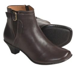 Softspots Miranda Ankle Boots - Calfskin (For Women) in Mahogany