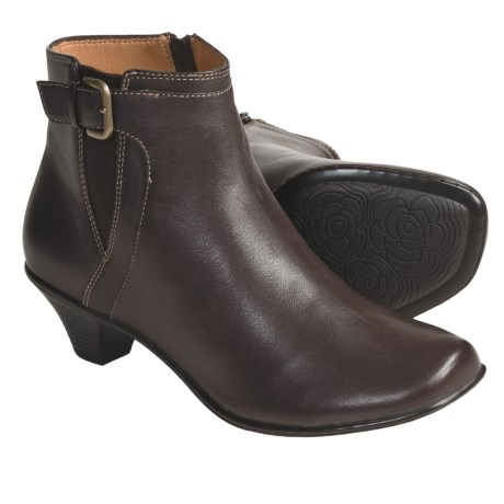 Softspots Miranda Ankle Boots - Calfskin (For Women) in Mahogany