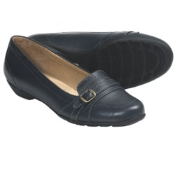 SoftSpots Narbonne Shoes - Leather (For Women) in Navy Leather