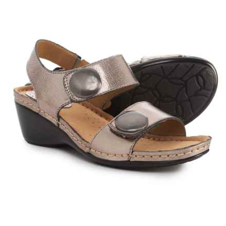 Softspots Pamela Sandals - Leather (For Women) in Anthracite - Closeouts