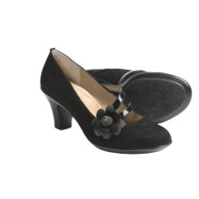 Softspots Perle Pumps - Leather (For Women) in Black Suede - Closeouts