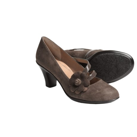 Softspots Perle Pumps - Leather (For Women) in Black Suede