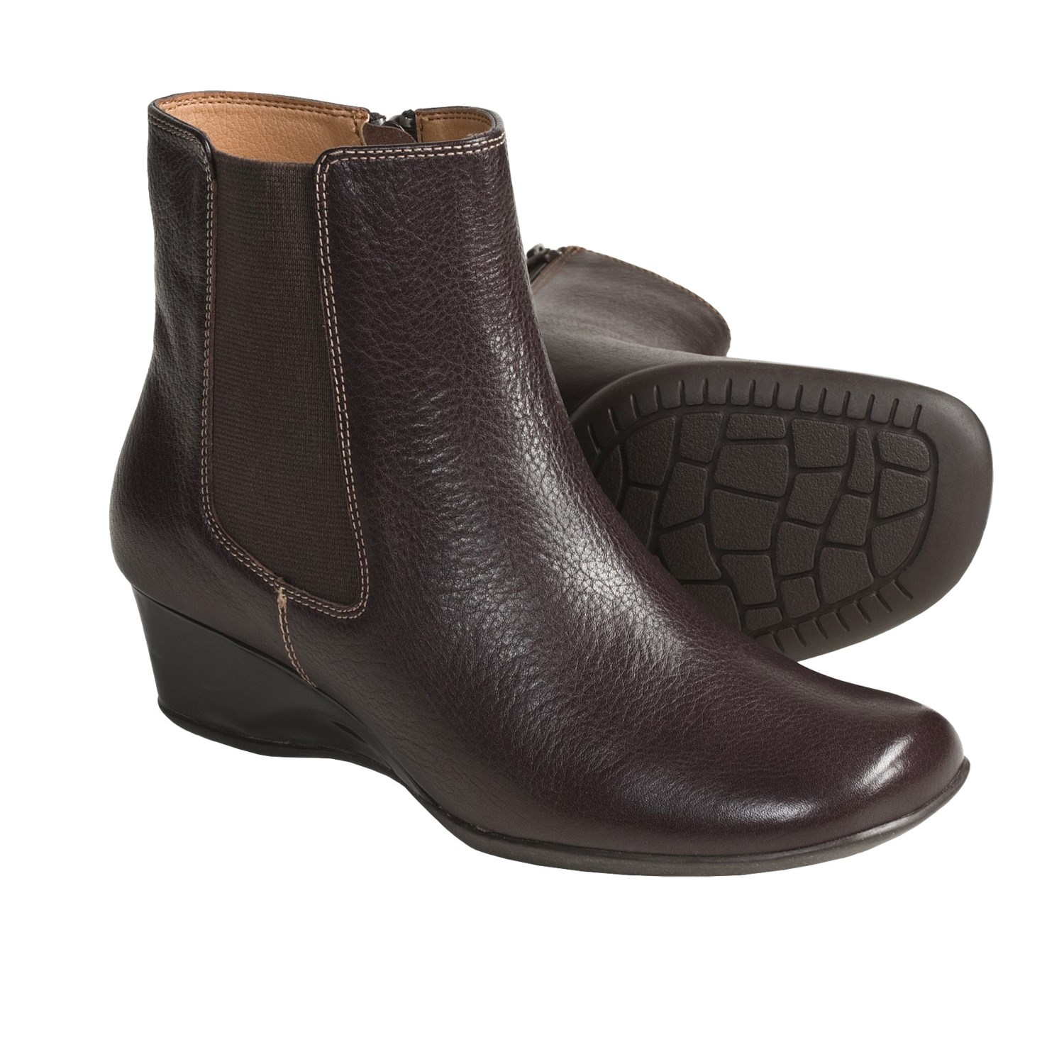 softspots picabo ankle boots wedge heel for